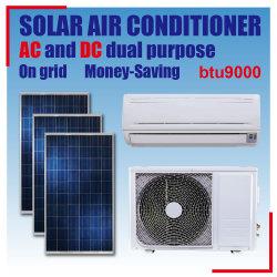 Dupla fonte de alimentação AC/DC na grelha com Alta Eficiência Energética 9000 BTU Solar do Condicionador de Ar