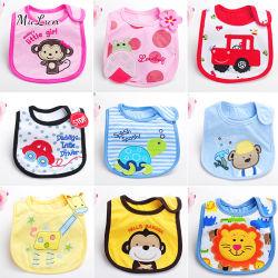 Comercio al por mayor fabrica de algodón orgánico baberos para bebés
