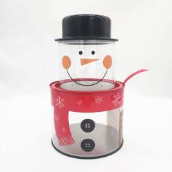 WeihnachtsSchneemann-Weihnachtsmann-Zinn Kasten gestapeltes Belüftung-Geschenk-Zinn