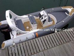 Liya 6.2metersの膨脹可能で堅い最下のボートの中国の膨脹可能なボート