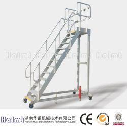 Handrails&#160の携帯用産業アルミニウムプラットホーム階段;