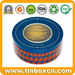 Aangepast om het Tin van de Munt van het Suikergoed van de Chocolade van het Blik van het Tin van het Voedsel van de Doos van het Metaal met het Transparante Deksel van het Venster van pvc