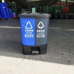 De sorterende Vuilnisbak van de Scheiding van de Vuilnisbak van Twee Compartiment van de Vuilnisbak Plastic Natte - en - droge