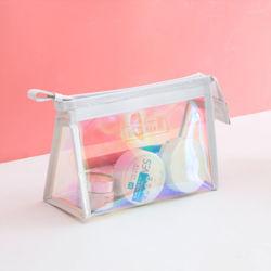 뜨거운 이리데슨트 Wet Clear PVC Swimmwear 의류 지퍼 백 마누팩토리, 사용자 정의 인쇄 투명 비키니 비치 포장 백(손잡이 포함