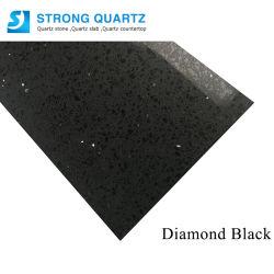 12 мм/15 мм/18 мм/20 мм/30 мм абсолютной черный Crystal искусственного кварца камень