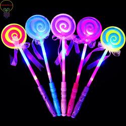 Stok die van de Fee van de Stok van Ledmagic de Magische Lichtgevende de Fluorescente Magische Stok van de Lolly van de Stok opvlammen