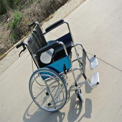 Hot Sale repose-pieds réglable en métal, commerce de gros en fauteuil roulant pliable en acier de 24 pouces adulte en fauteuil roulant Fauteuil roulant manuel