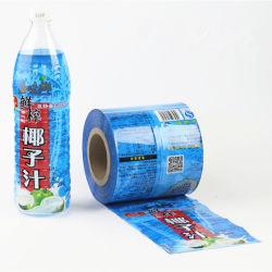 PVC/PET/OPS manchon rétractable utilisé pour le plastique et le flacon en verre
