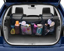 [مولتيفونكأيشن] يطوي وسط شبكة جيب سفر سيارة [بك ست] منام تخزين حقيبة سيارة شريكة