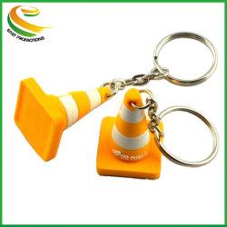 سلسلة مفاتيح مخصصة لتصميم الشعار من المطاط ثنائي الأبعاد PVC ثلاثي الأبعاد