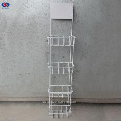 An der Wand befestigter 4 Reihe-Kondom-Bildschirmanzeige-Zahnstangen-Metallgeschlechts-Produkt-Ausstellungsstand