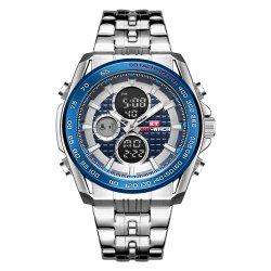 الموضة 2019 هدية [منس] ساعة مع [ستلس] فولاذية شريط كوارتز [ديجتل تيم] [كرونوغراف] جودة ساعات جمليّة
