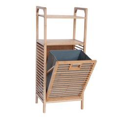 سلة غسيل من الخيزران الطبيعي متعددة الوظائف مخصصة للعب الدُش المنزلي الخشبي خزانة الرف التخزين برج الخيزران خزانة تخزين الملابس القذرة