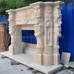 Custom Indoor Haus Marmor Carving Kamin Mantel (GSMF-305)