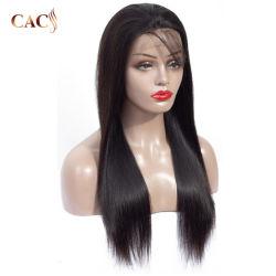 300 de longueur moyenne de densité Brown Stright Cheveux humains brésilien Full Lace Wig
