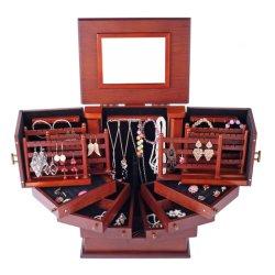 Morden de bijoux en bois élégant Box/ boîte cadeau/ Customed PU bijoux de luxe en cuir Boîte cadeau/ élégant collier/Eardrop/Bracelet Multi tiroir coffret à bijoux en bois
