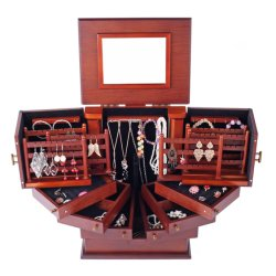 Morden優雅な木のJewellryボックスギフト用の箱または宝物記憶/JewellryのギフトBox/PUの革宝石箱の宝石用原石の宝石箱の装飾的な宝石箱