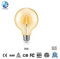 8W G95のこはく色カラーDimmableのレストランの電球LEDのフィラメントランプE27の基礎装飾的な照明