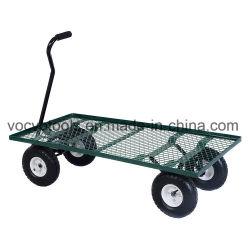 Belastbarkeit Vier Räder Edelstahl Mesh Garten Werkzeugwagen