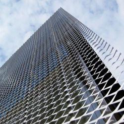 Maglia del metallo ampliata alluminio del rivestimento di PVDF/Powder per il rivestimento/soffitto/rete fissa della facciata