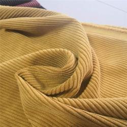 Tissu de polyester velours côtelé large canapé Tissu 8 Wale pour