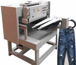 De Dikke Marineblauwe Jeans van de winter met Groot Gat die Makend Machine malen