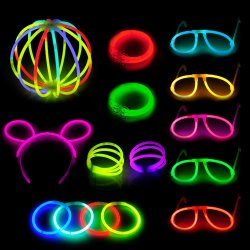 238pcs Glow Stick Party Pack Multi Color Glow partie de mettre