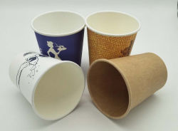 Hot vender 4oz 6oz 8oz Logotipo personalizado Imprimir té caliente / Café vaso de papel
