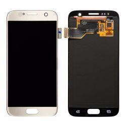 Schermo di tocco superiore dell'affissione a cristalli liquidi del telefono mobile di OEM/OLED per la galassia S7 di Samsung con il blocco per grafici