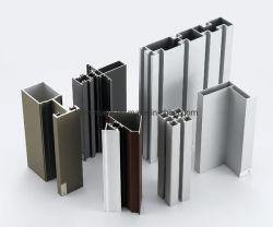 Personnalisés profils en aluminium de construction pour murs rideaux portes fenêtres en aluminium