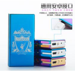 Venda por grosso Custom eletrônico inteligente acendedor USB, pilha recarregável de metal Flameless Isqueiro USB