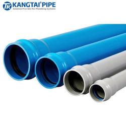Tuyau d'usine de traitement des eaux UPVC Pn6.3 à Pn20 DN20 à DN630mm tuyau de tubes de PVC-U