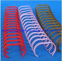 Nylon enduit double boucle de reliure de livre le fil O