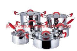 Asa de silicio conjunto de utensilios de cocina Olla Tapa de cristal para el hogar
