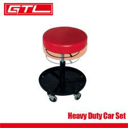 ヘビーデューティ・カーセット、空圧式車修理調整式クリーパーシートワークショップ丸型スツールクリーパーシート、調整可能高さローリングクリーパースツール(保管トレイ付き)( 48 )