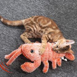 Simulación de carga USB eléctrico camarones saltando de juguetes para perro gato masticar jugando morder artículos para mascotas