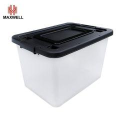 Colorida de plástico apilables caja que contiene con ruedas adecuado para la cocina/Home/Office