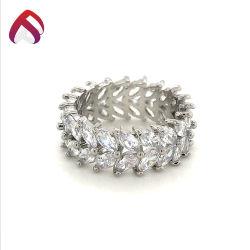 مصنع [وهولسل بريس] 925 [سترلينغ سلفر] نطاق حلقة مجوهرات مع [زيركنا] تكعيبيّ