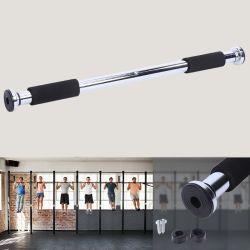 De acero puerta de la barra horizontal de 100 kg en el interior de la carga de entrenamiento físico Gimnasio Tire marco horizontal Capacitación con mango de esponja 62-100cm.