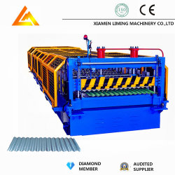 Automatisches Metallpanel und gewellte farbige Stahldach-Fliese-Profil-Rolle, die Maschine herstellend sich bildet