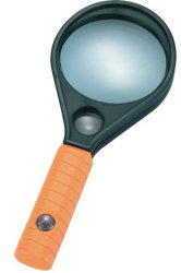 Пластмассовую ручку с двумя объективами Лупа с изображением увеличительного стекла с помощью компаса (BM-MG4112)