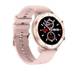 핫 럭셔리 디자인 레이디 스마트 브라치렛 Tw89 로즈 골드 스마트 심박수 ECG 여성 건강 시계 휴대폰 보기