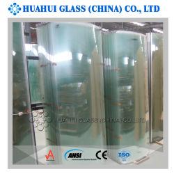 Painel de vidro temperado curvo para gabinetes de portas de chuveiro com o ANSI AS/NZS certificados CE