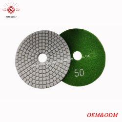 4 Schurende Hulpmiddel van de Oppoetsende Stootkussens van de Fabriek van de duim het Natte voor de Plakken van het Graniet