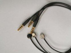 Wiederverwendbarer Hauttemperatursensor medizinischer Thermistor-Sensor, rechtwinklige 5,8mm-Telefonstecker auf 3,5mm-Disk-Sensor