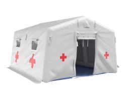 خيام طبية قابلة للانتفاخ للوسائد الهوائية الجانبية (PVC)، خيمة عزل المستشفيات، مادة مطهرة قابلة للانتفاخ