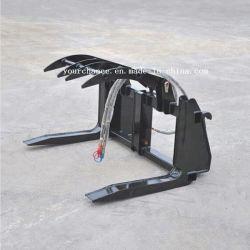 Venta caliente MÁQUINA FORESTAL GM10g 1220mm de ancho, 100-600mm el acaparamiento de diámetro 1 toneladas de peso de carga registro de altas prestaciones para agarrar 80-150cargadora frontal Tractor HP