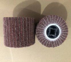 La falda non tessuta spinge il timpano interfogliato abrasivo della rotella della falda con il supporto conico del buco della serratura