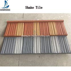 Agitar Teja de tipo de producto de construcción estándar americano de piedra de color del techo de acero recubierto de metal