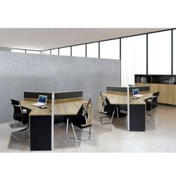 Triángulo modulares modernos de madera Muebles de oficina de la Oficina de estaciones de trabajo con la partición